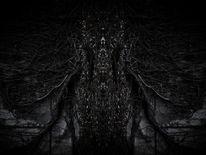 Dunkel, Struktur, Schwarzweiß, Monochrom