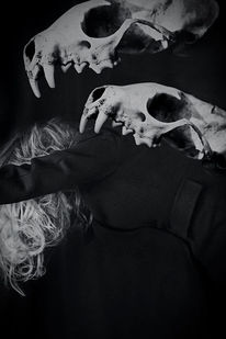 Dunkel, Monochrom, Emotion, Frau