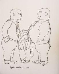 Skizze, Menschen, Politik, Zeichnungen