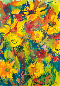 Malerei, Musik, Skizze, Landschaft