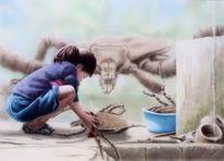 Shaktyri, Mädchen, Acrylmalerei, Fantasie