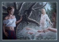 Fantasie, Acrylmalerei, Magie, Traum