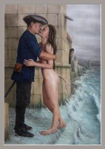Welle, Acrylmalerei, Soldat, Gefahr