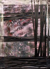Malerei, Abstrakt, Mann, Anzug