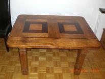Holz, Eiche massiv, Tisch, Kunsthandwerk