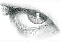 Augen, Bleistiftzeichnung, Zeichnungen, Portrait