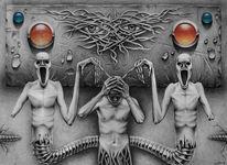 Phobie, Angst, Zeichnungen, Surreal