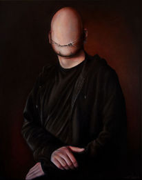 Lächeln, Portrait, Selbstportrait, Riss