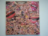 Kuss, Mund, Lippen, Malerei