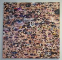 Augen, Sehen, Malerei, Collage
