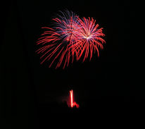 Feuerwerk, Höhe, Tal, Fotografie