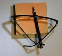 Angefertigte, Zeichnung, Brille, Dioptrin
