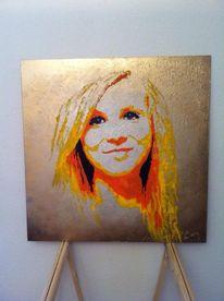 Mdf auf holz, Acryl auf mdf, Portrait, Malerei