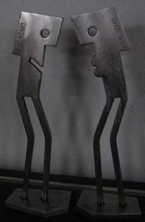 Eisen zart, Stahlskulptur, Stahl, Eisenfigur