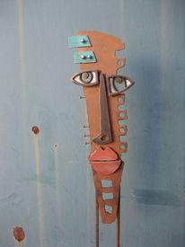 Handarbeit, Maske, Rost, Metallskulptur
