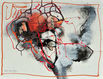 Malerei, Abstrakt, Mix