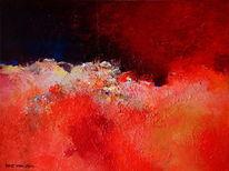 Mars, Rot, Acrylmalerei, Malerei