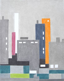 Stadt, Landschaft, Zeichnung, Stadtlandschaft