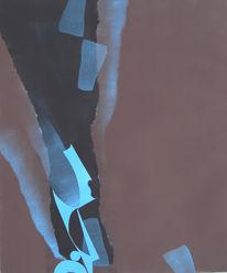 Malerei, Abstrakt, Entwicklung, Braun