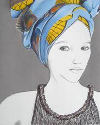 Malerei, Kopftuch