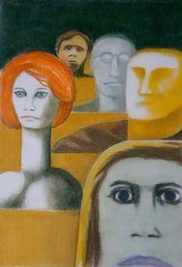 Surreal, Zeichnung, Figural, Zeichnungen