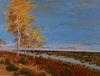 Landschaft, Ölmalerei, Zeitgenössischer maler, Wasser