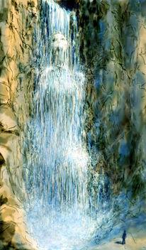 Wasser, Deutschland, Gegenwartskunst, Kleinerwasserfall