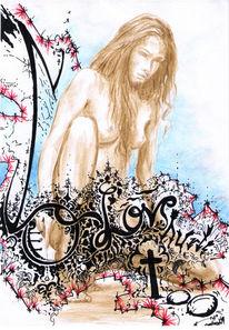 Edding, Liebe, Wasser, Illustration
