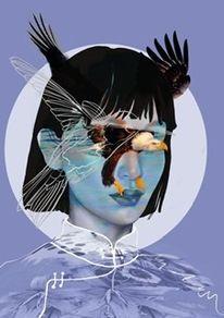 Zeitgeist, Zeitgenössische kunst, Limitierte auflage, Digitale kunst