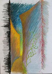 Gasse, Sonne, Zeichnungen, Abstrakt