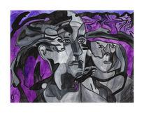 Malerei, Surreal, Bruder