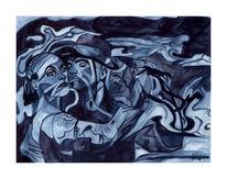 Malerei, Surreal, Tango