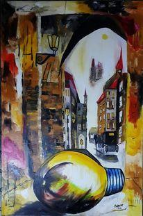 Birne, Licht, Schatten, Malerei