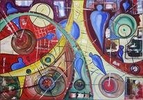 Chemie, Reaktion, Elemente, Malerei