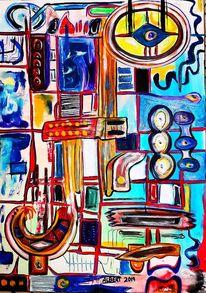 Demenz, Gedanken, Durchfluß, Malerei