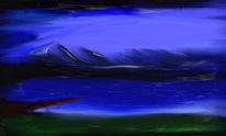 Dunkel, Alpen, See, Kalt