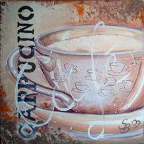 Café, Kaffee, Küche, Cappucino