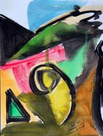 Malerei, Abstrakt, Lebensfreude, Depression