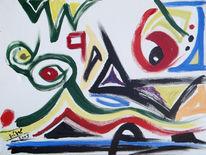 Malerei, Abstrakt, Jahr, Pause