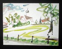 Malerei, See, Mai