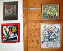 Malerei, Ausstellung, Ausschnitt