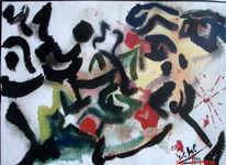 Malerei, Männchen, Nashorn