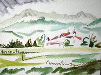 Malerei, Kloster, Bergen
