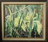 Malerei, Stillleben, Wilde, Iris