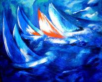 Sturm, See, Wasser, Segel