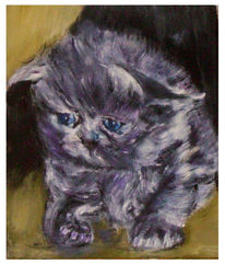 Acrylmalerei, Katze, Malerei, Tiere