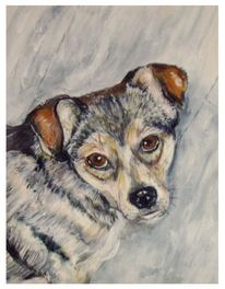Hund, Treu, Malerei, Figural