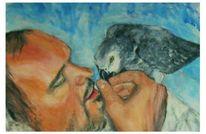 Freundschaft, Menschen, Tiere, Malerei