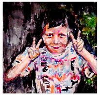 Kind, Portrait, Malerei