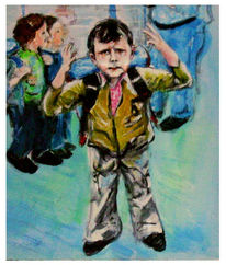Schule, Kind, Malerei